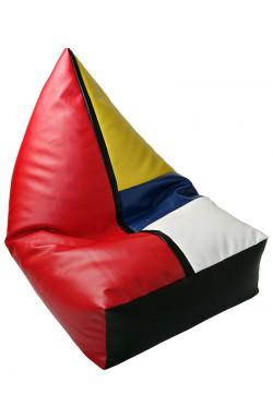CREATIVANDO Poltrona a sacco LOLITA Peggy ECOPELLE Mondrian Style